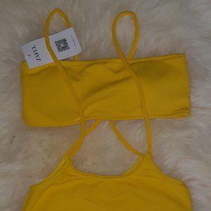 NW yellow two-piece bikini